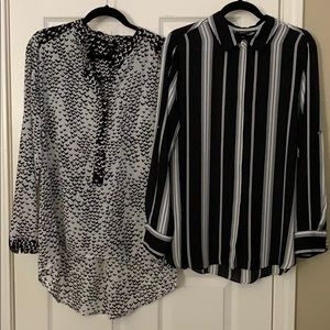 Buy 1, get 1 free 😃 black and white blouses